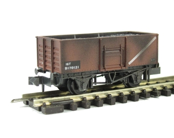 NR-44FW BR Butterley steel coal wagon in bauxite - weathered