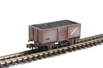 NR-44BW Mineral Wagon Butterley Steel Type in BR Grey (weathered, with removable load)