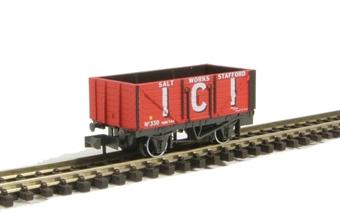 NR-P102B 7-plank coal wagon ICI Salt Works - Stafford. No.330