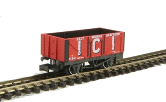 NR-P102C 7-plank coal wagon ICI Salt Works - Stafford. Number 341