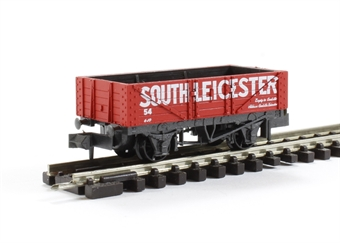 NR-P443 5 Plank Open Wagon 'South Leicester No.54' in Red with White Lettering