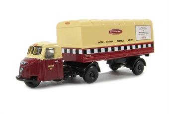 NRAB001 Scammell Scarab Van Trailer British Rail