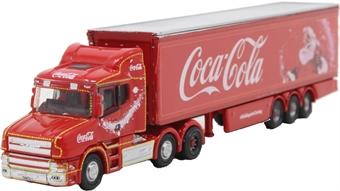 NTCAB007CC Scania T Cab Box Trailer Coca Cola Xmas