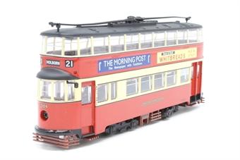 """OM40501.(C)-PO12 1931 Feltham streamlined d/deck tram """"London Transport"""" - Pre-owned - Like new"""