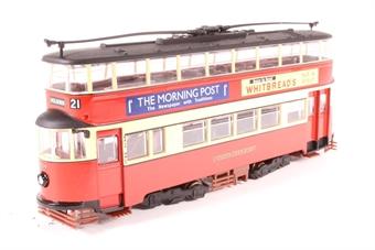 """OM40501.(C)-PO 1931 Feltham streamlined d/deck tram """"London Transport"""" - Pre-owned - Like new"""