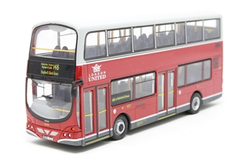 """OM41208-PO01 Wright Eclipse Gemini s/door d/deck bus """"London United"""" - Pre-owned - Like new - imperfect box"""