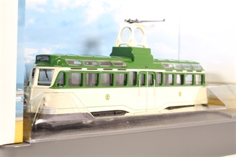 OM44005-LN03 Blackpool Brush Railcoach tramcar in 1960's cream/green livery - Pre-owned - Like new £27