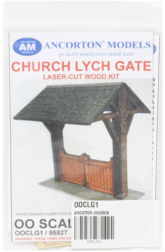 OOCLG1 Church lych gate - laser cut wood kit