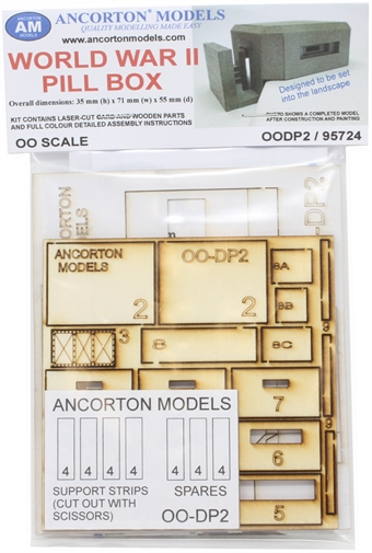 OODP2 Type 28 Pill box - laser cut wood kit