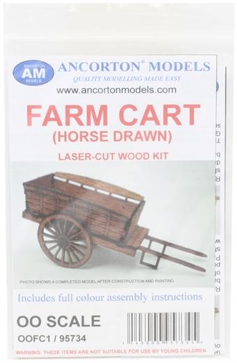 OOFC1 Horse-drawn farm cart- laser cut wood kit