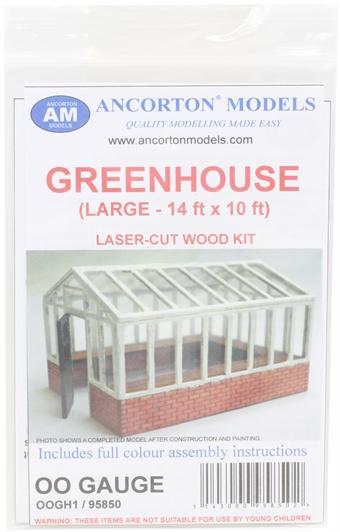 OOGH1 Large greenhouse - laser cut wood kit
