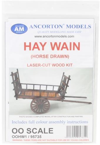OOHW1 Horse-drawn hay wain- laser cut wood kit £6.50
