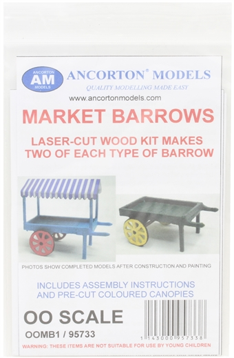 OOMB1 Market barrows- laser cut wood kit