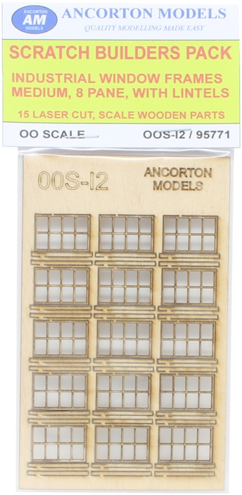 OOS-I2 Pack of industrial window frames for scratch builders £6