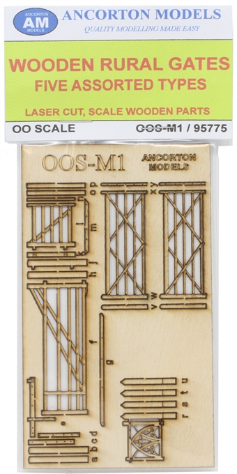 OOS-M1 Wooden farm rural gates - pack of four - laser cut wood kit £6