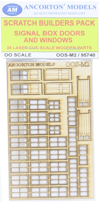 OOS-M2 Pack of signal box doors and windows for scratch builders