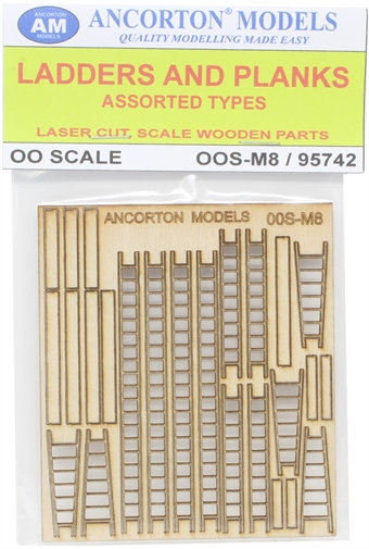 OOS-M8 Pack of builders ladders and planks for scratch builders £5