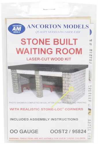 OOST2 Stone-built station waiting room - laser cut wood kit