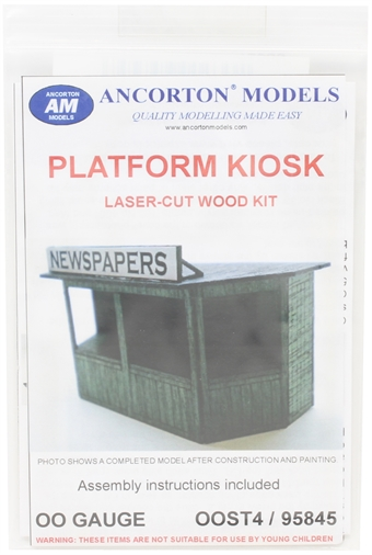 OOST4 Station platform newspaper kiosk - laser cut wood kit £6.50