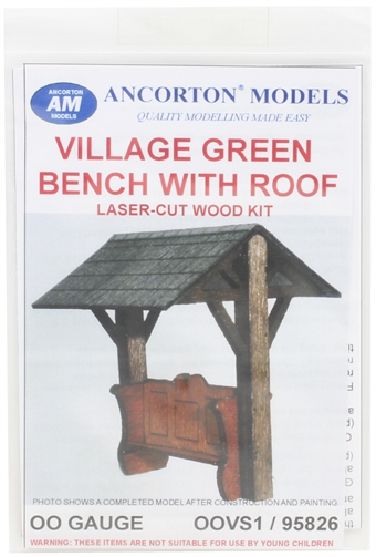 OOVS1 Village seat with canopy - laser cut wood kit