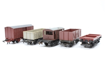 OOWAGONBUNDLE-PO61 Bundle of five assorted wagons - Pre-owned - sold as seen - missing some couplings/coupling hooks -  minor chips/scratches - replacement box