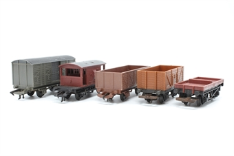 OOWAGONBUNDLE-PO62 Bundle of five assorted wagons - Pre-owned - sold as seen - missing some couplings/coupling hooks - minor chips/scratches - replacement box