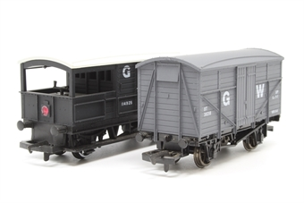OOWAGONBUNDLE-PO64 Bundle of 2 GW wagons - Pre-owned - replacement box