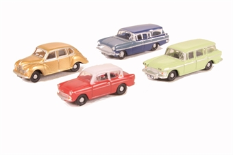 OR148CPK001 Pack of four assorted 1960s cars for Carflat wagons