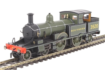 OR76AR006 Class 415 Adams Radial 4-4-2T 3520 in Southern Railway green