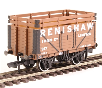 "OR76CK7004 7-plank open wagon ""Renishaw Iron Company"" with coke rails"