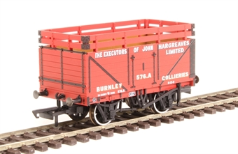 """OR76CK7003 7-plank open wagon """"Exec. of John Hargreaves, Burnley"""" with coke rails"""