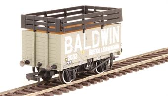 "OR76CK7005 7-plank open wagon ""Baldwin, Bristol and Birmingham"" with coke rails - grey"