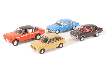 OR76CPK003 Pack of four assorted 1980s cars for Carflat wagons