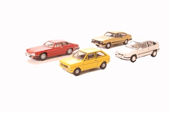 OR76CPK004 Pack of four assorted 1990s cars for Carflat wagons