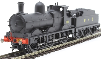 OR76DG006XS Class 2301 'Dean Goods' 101 in War Department black - DCC sound fitted