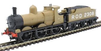 OR76DG009 Class 2301 'Dean Goods' 0-6-0 2308 in WW1 Railway Operating Division khaki