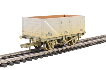OR76MW7015B 7-plank open wagon in BR grey - weathered
