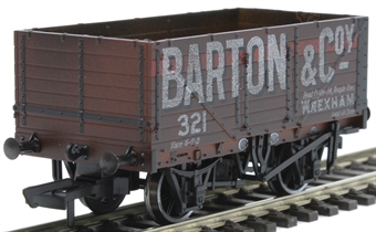 "OR76MW7020W 7 plank wagon - ""Barton and Company, Wrexham"" - weathered"
