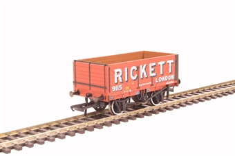 "OR76MW7022 7-plank mineral wagon ""Rickett"" with 3-disc wheels"