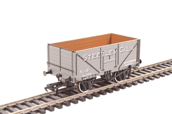 """OR76MW7024 7-plank open wagon """"Steetley and Co, Llynclys"""""""