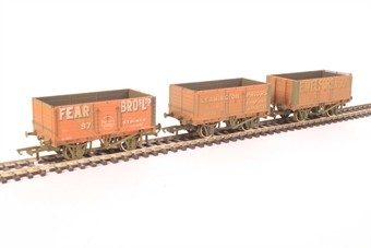OR76MW7029 Pack of three 7 plank wagons - Fear Bros 87- Leamington 14 - Welford 38