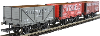 OR76SPWAG01 7 plank private owner wagons - pack of three