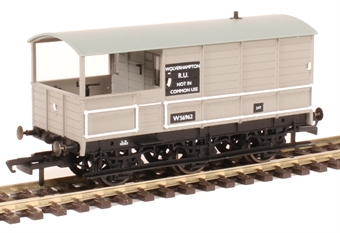 "OR76TOA004 GWR diagram AA3 6-wheel 'Toad' brake van W56962 in BR grey - ""Wolverhampton"""