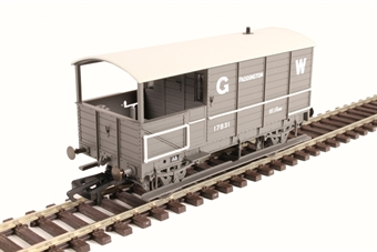"OR76TOB001 4-wheel 'Toad' brake van 17831 in GWR grey - ""Paddington"""
