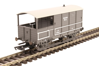 """OR76TOB002 4-wheel 'Toad' brake van 56034 in GWR livery with plated sides - """"Acton"""""""