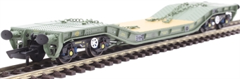 OR76WW011 45 ton Warwell wagon in MOD olive with GPS bogies