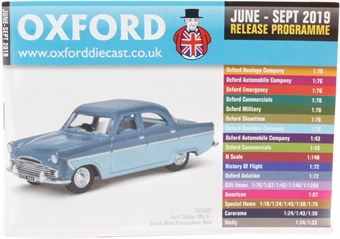OxCat1906-1909 Oxford Diecast 48-page A6 catalogue - June 2019 to September 2019. Includes OO, N, HO & O gauge items