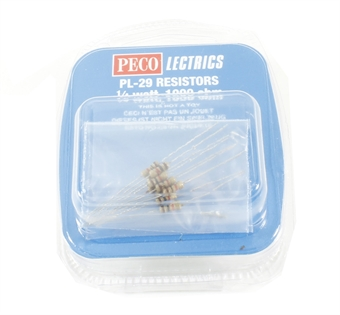 PL-29 Resistors x 10 (for use with LEDs etc.)