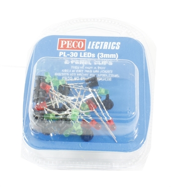 PL-30 LEDs x 20 (10 red, 10 green, plus 20 panel clips)