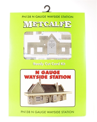 PN138 GWR-style wayside station - card kit